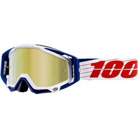 100% Racecraft Anti Fog Mirror goggles, bibal/white
